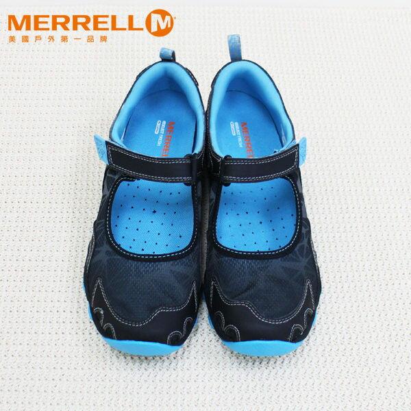 Merrell女水陸兩棲運動鞋 深藍 4