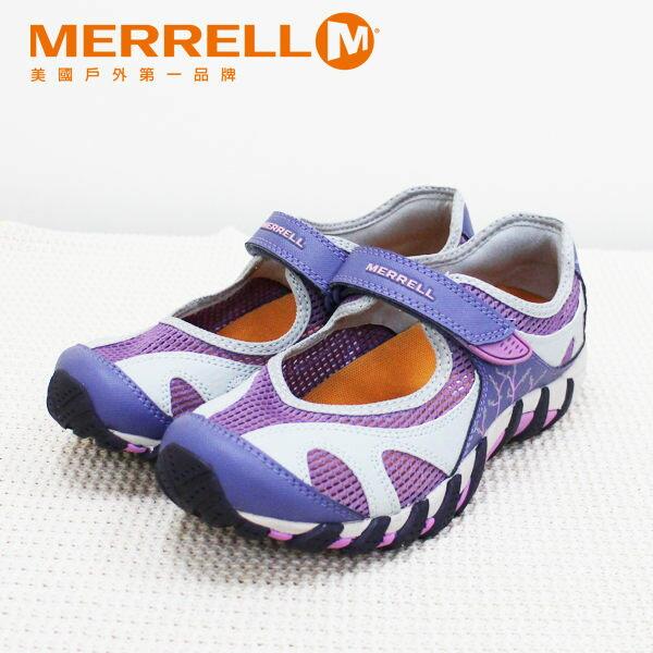 Merrell女水陸兩棲運動鞋 紫粉