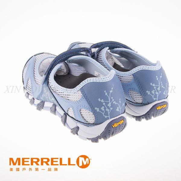 MERRELL 水陸兩棲多功能涼鞋 水藍 4