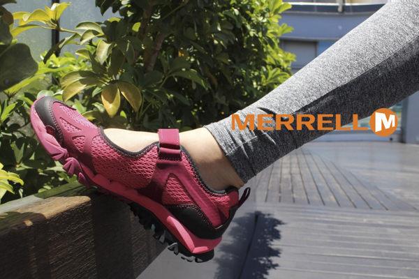 MERRELL 水陸兩棲多功能涼鞋 深紅 4