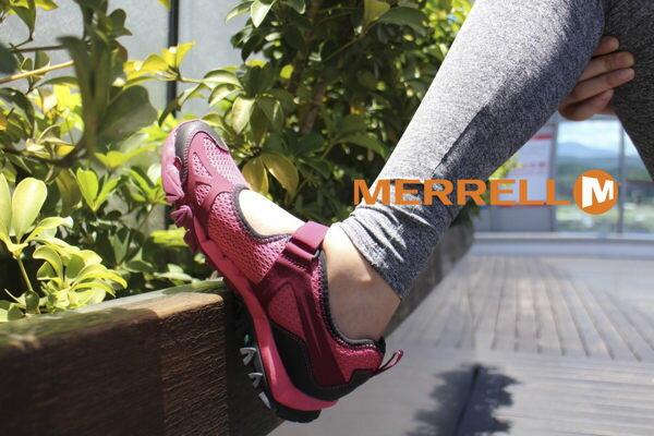 MERRELL 水陸兩棲多功能涼鞋 深紅 5