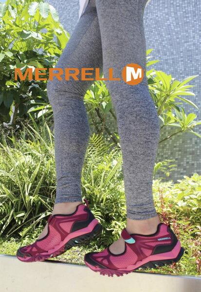 MERRELL 水陸兩棲多功能涼鞋 深紅 6