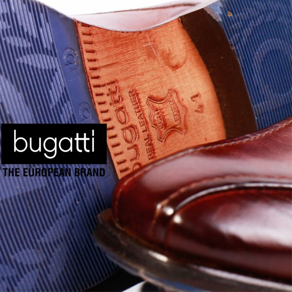 Bugatti 德國工藝 高級皮鞋 防潑水 男 6