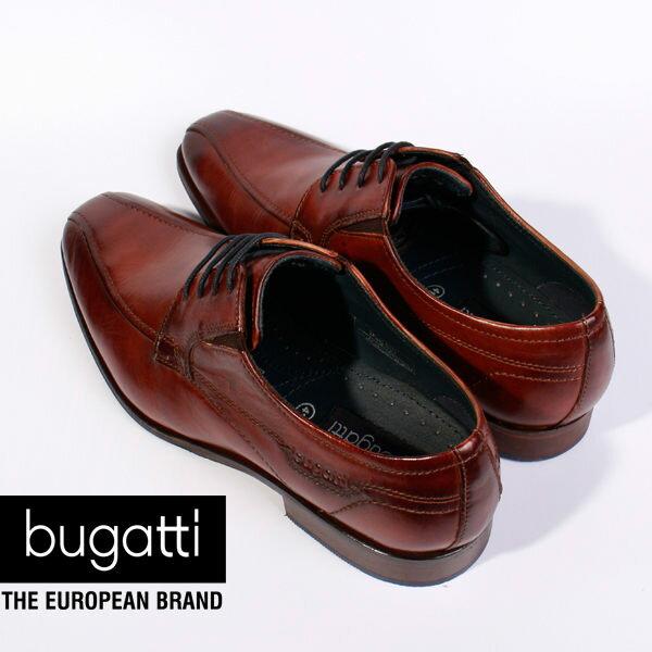 Bugatti 德國工藝 高級皮鞋 防潑水 男 4