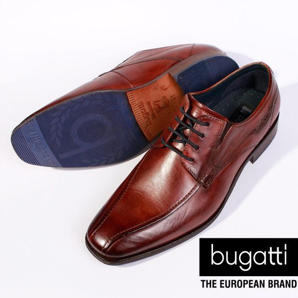 Bugatti 德國工藝 高級皮鞋 防潑水 男 5