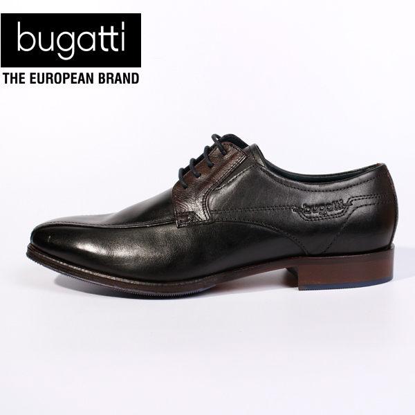 Bugatti雕紋德國工藝防潑水皮鞋 黑 男 ~  好康折扣