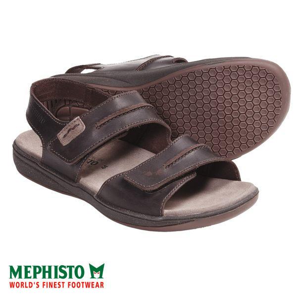 Mephisto 皮革 雙黏帶涼鞋 咖啡 1