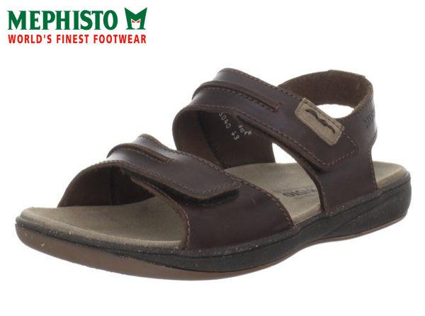 Mephisto 皮革 雙黏帶涼鞋 咖啡 0