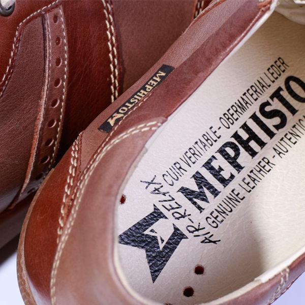 Mephisto 皮革綁帶拼接休閒鞋 男 咖啡 6