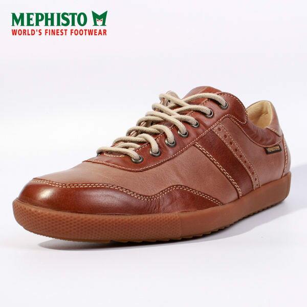 Mephisto 皮革綁帶拼接休閒鞋 男 咖啡 1
