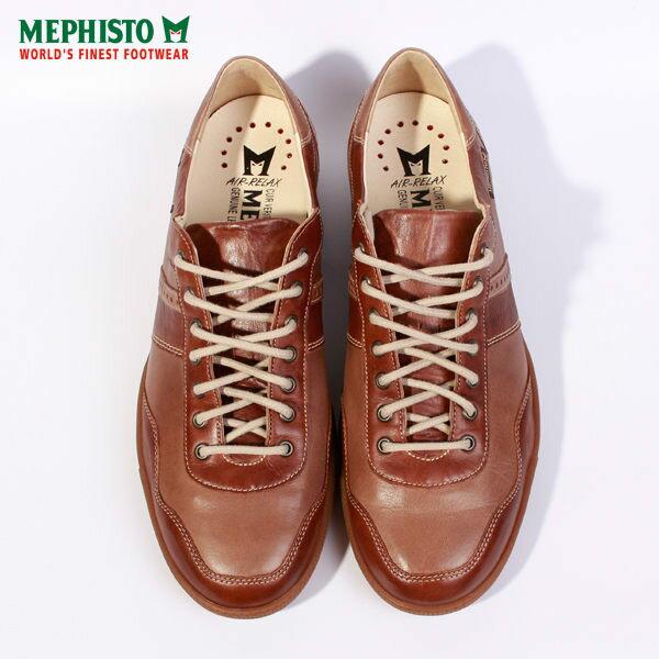 Mephisto 皮革綁帶拼接休閒鞋 男 咖啡 3