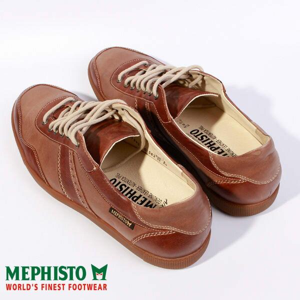 Mephisto 皮革綁帶拼接休閒鞋 男 咖啡 5
