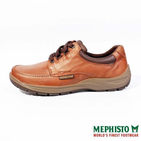 Mephisto 皮革綁帶休閒鞋 咖 男 0