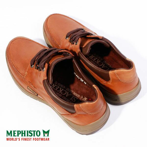 Mephisto 皮革綁帶休閒鞋 咖 男 3