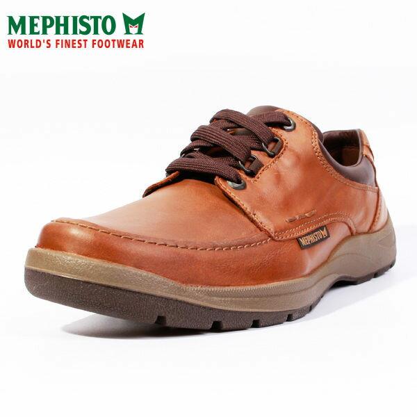 Mephisto 皮革綁帶休閒鞋 咖 男 1