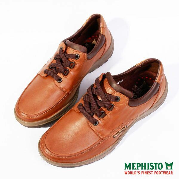 Mephisto 皮革綁帶休閒鞋 咖 男 2