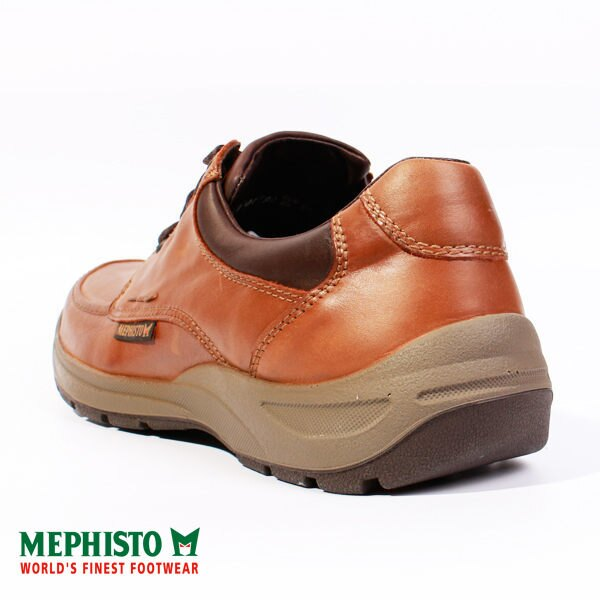 Mephisto 皮革綁帶休閒鞋 咖 男 5
