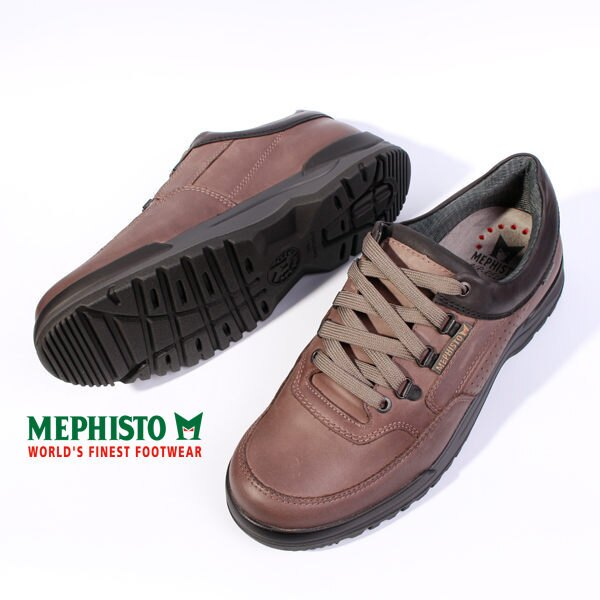 Mephisto 皮革綁帶休閒鞋 男 黑 4