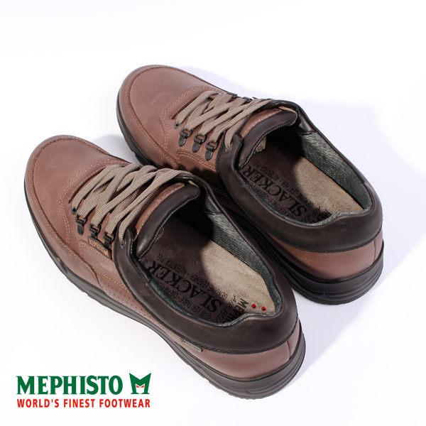 Mephisto 皮革綁帶休閒鞋 男 黑 5