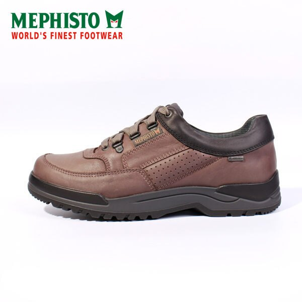 Mephisto 皮革綁帶休閒鞋 男 黑 0