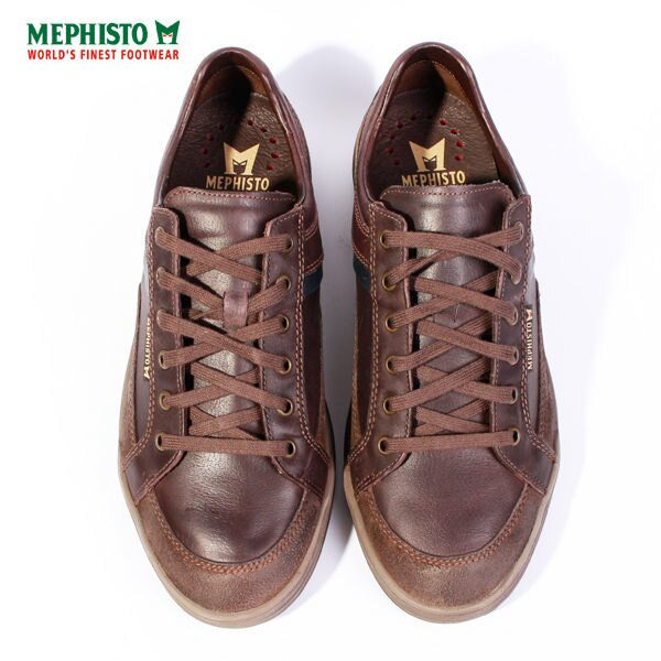 Mephisto 皮革綁帶休閒鞋 男 咖啡 2