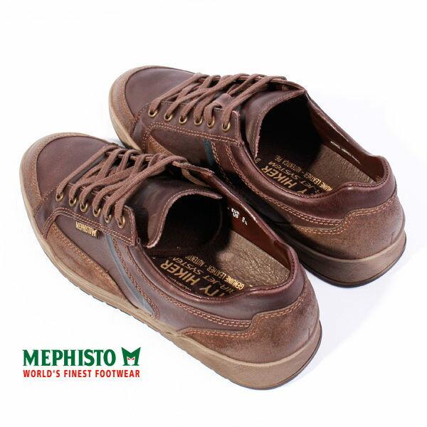 Mephisto 皮革綁帶休閒鞋 男 咖啡 4