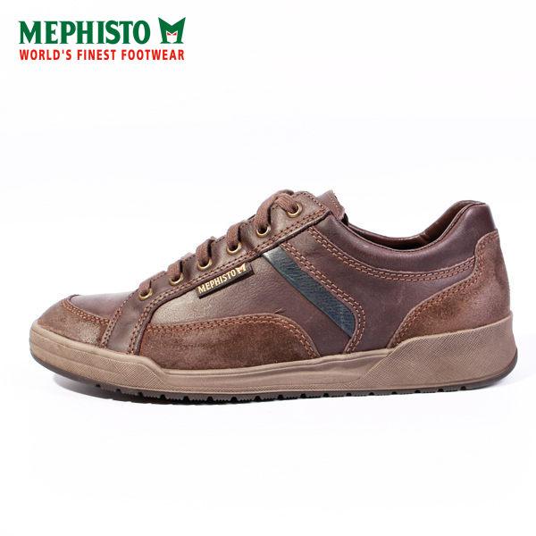 Mephisto 皮革綁帶休閒鞋 男 咖啡 0