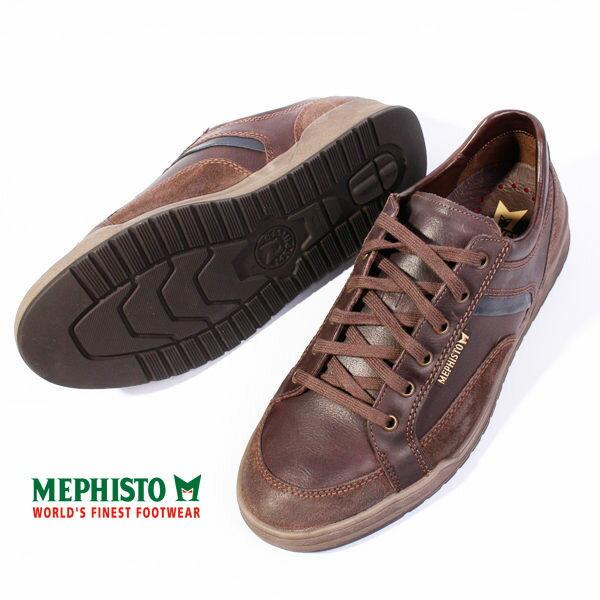 Mephisto 皮革綁帶休閒鞋 男 咖啡 5