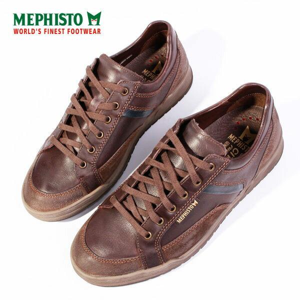 Mephisto 皮革綁帶休閒鞋 男 咖啡 3
