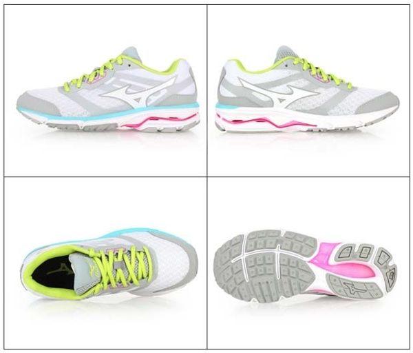 Mizuno wave系列女慢跑鞋 灰 3