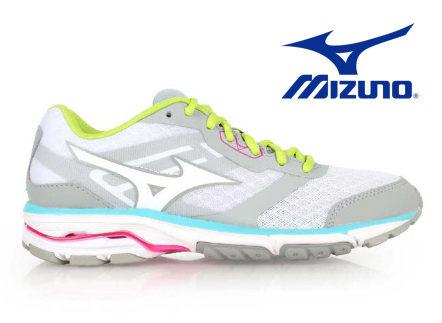Mizuno wave系列女慢跑鞋 灰 1