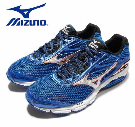 Mizuno Wave 男慢跑鞋 WAVE ENIGMA 5 藍 1