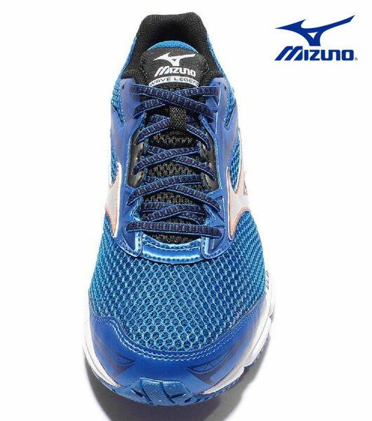 Mizuno Wave 男慢跑鞋 WAVE ENIGMA 5 藍 3