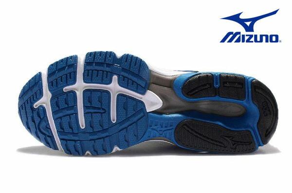 Mizuno Wave 男慢跑鞋 WAVE ENIGMA 5 藍 4