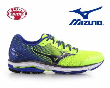 Mizuno Wave 男慢跑鞋 WAVE ENIGMA 5 銀光黃 0