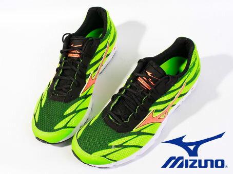 Mizuno 男路跑鞋 WAVE HITOGAMI 3 綠 2