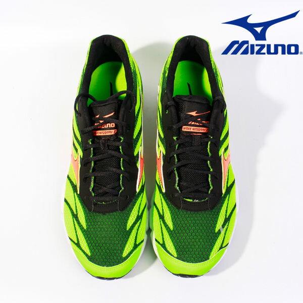 Mizuno 男路跑鞋 WAVE HITOGAMI 3 綠 3