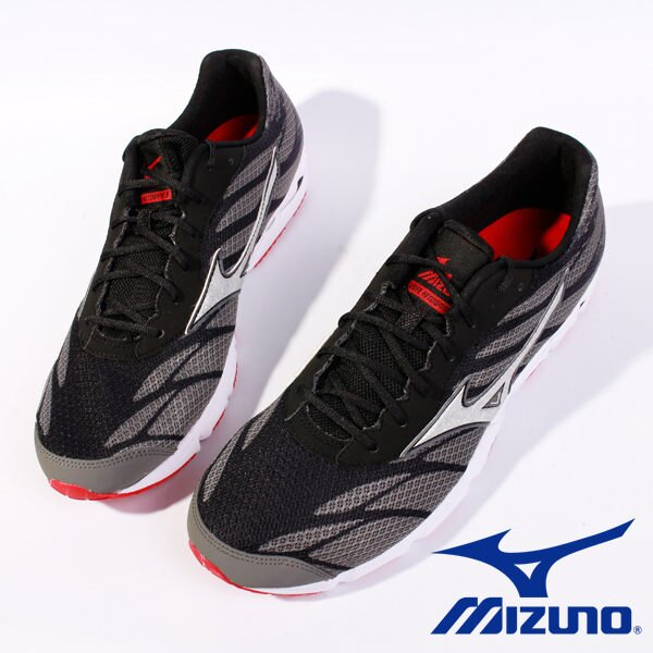Mizuno 男路跑鞋 WAVE HITOGAMI 3 黑 3