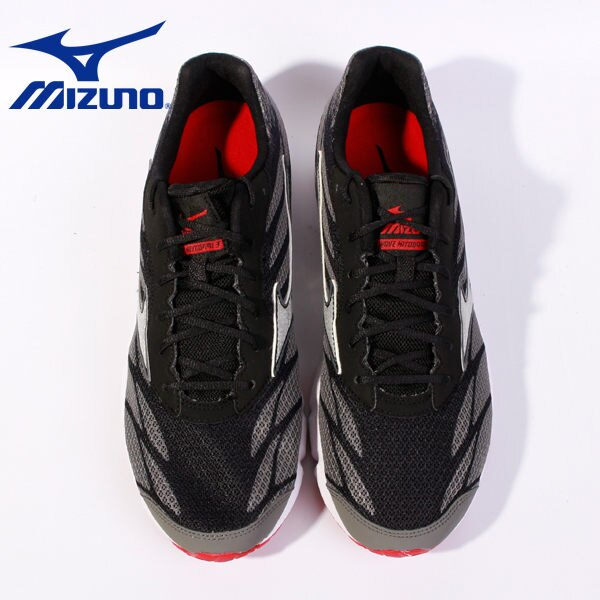 Mizuno 男路跑鞋 WAVE HITOGAMI 3 黑 5