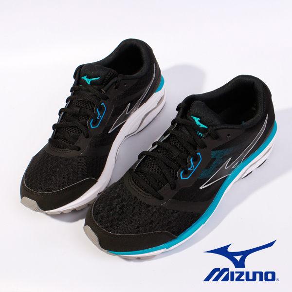 Mizuno 休閒慢跑鞋 男 藍黑 2