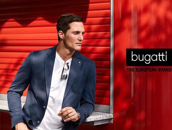 Bugatti 德國工藝綁帶防潑水皮鞋黑 男 1