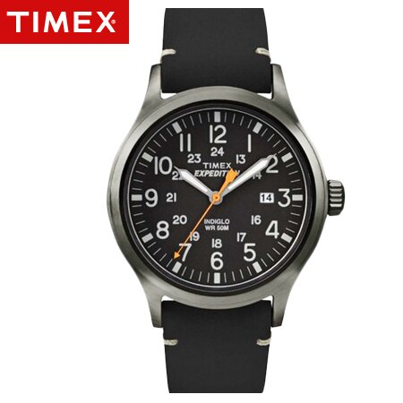 TIMEX天美時腕錶 INDIGLO冷光EXPEDITION遠征戶外系列皮革手錶 柒彩年代【NE1667】原廠公司貨 0