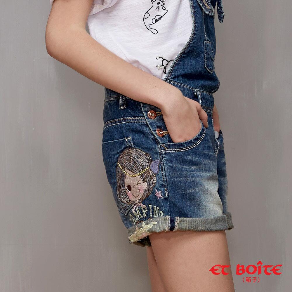 ET BOiTE 箱子  ET Amour 數字娃娃吊帶短褲 - 【單筆滿888結帳輸入 SS_20161209→再折100元】 2