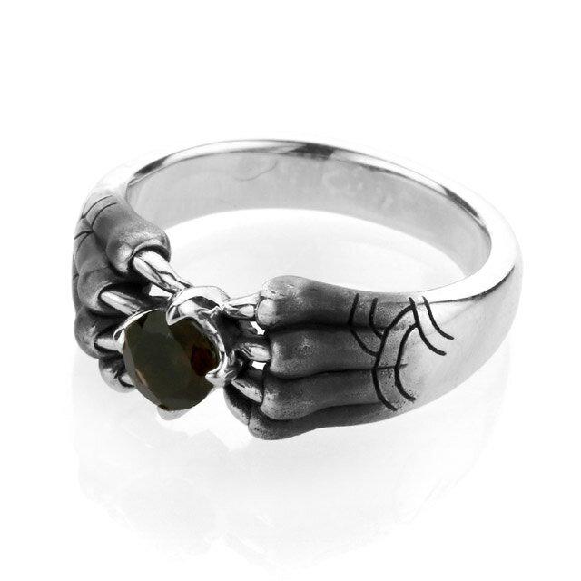 【海外訂購】【Bloody Mary】Aslan 阿斯蘭獅爪純銀戒指 煙晶石(BMR1386-Sq) 0