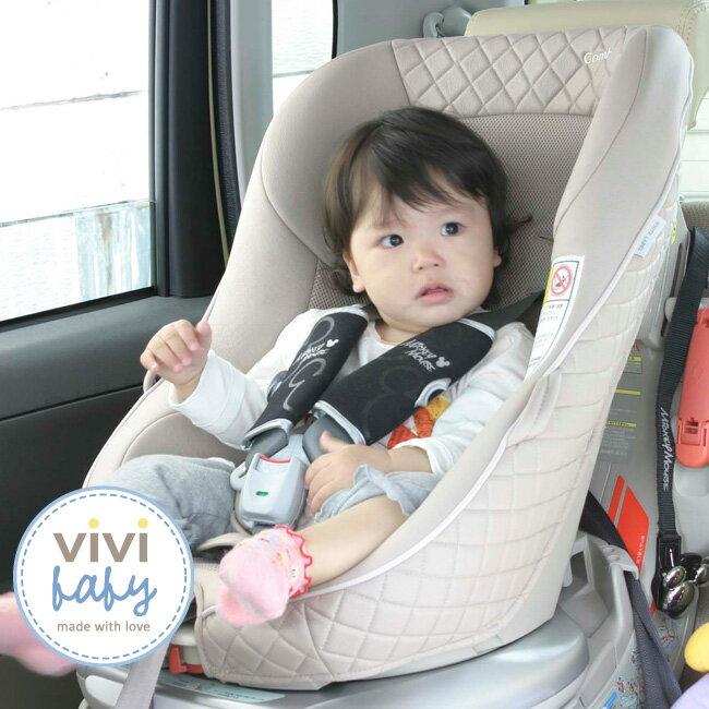 ViViBaby - Disney迪士尼米奇黑安全帶套 1