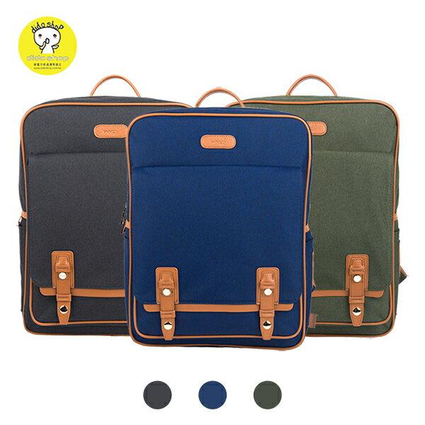 韓版質感雙皮釦筆電後背包 筆電包 (BK089)