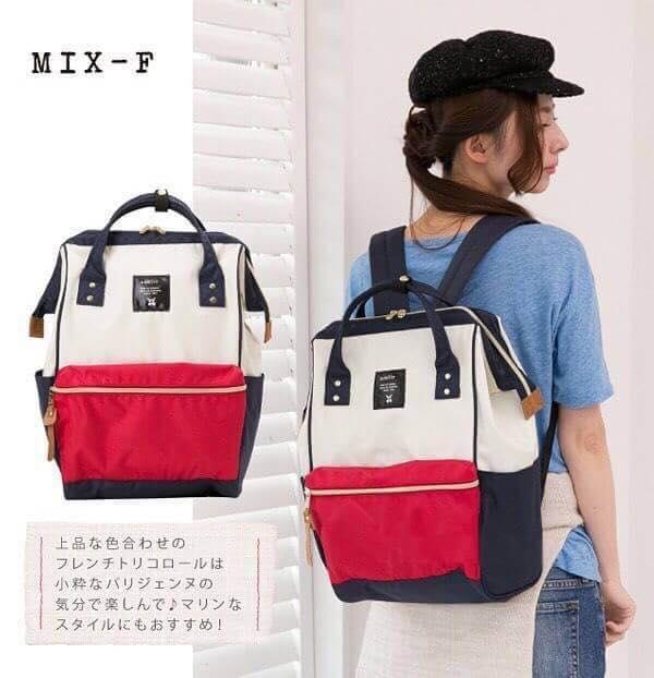 【日本anello】ANELLO 雙肩後背包 《大號》- 紅白 1