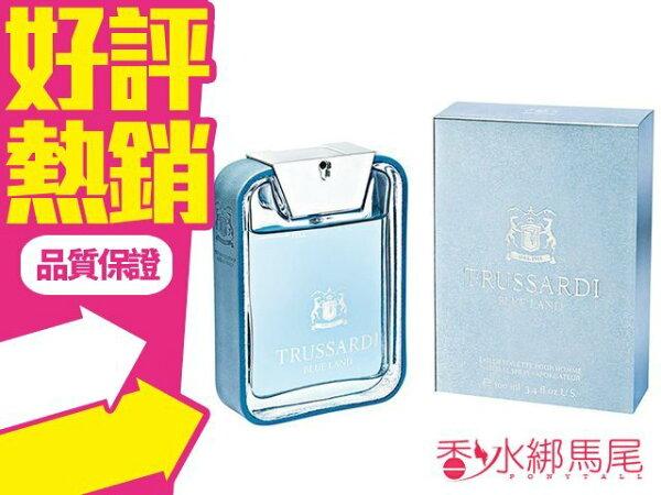 ◐香水綁馬尾◐TRUSSARDI BLUE LAND 男性淡香水 香水空瓶分裝 5ML