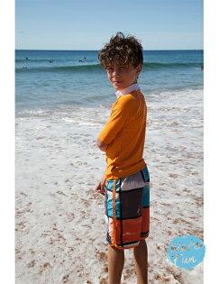 兒童泳衣★特價五五折★澳洲鴨嘴獸 UPF 50+ 抗UV 防曬半長袖上衣+ 海灘褲 套組 (小男4-8歲) [樂游小舖]