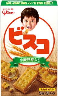 Glico固力果夾心餅乾-小麥胚芽(67g)